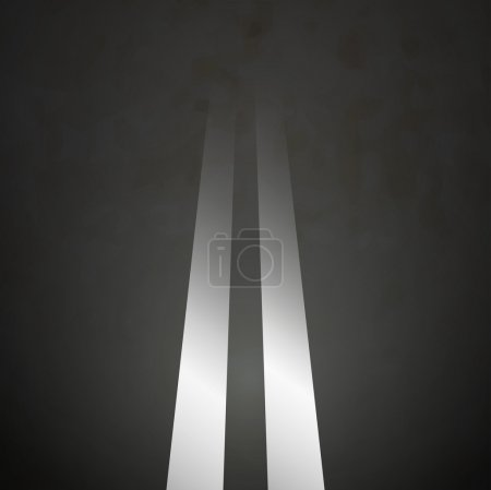 Illustration for Road background double lines asphalt vector - Royalty Free Image