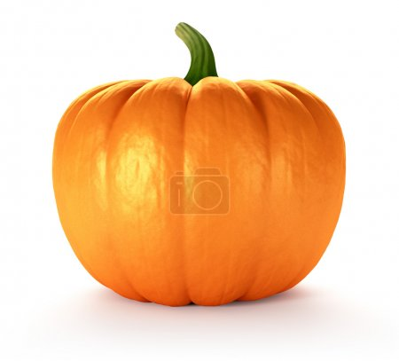 Photo for Pumpkin on white background, 3d render - Royalty Free Image