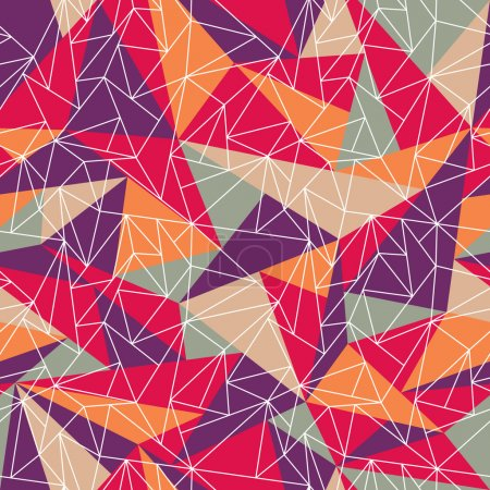 Abstract geometric colorful pattern background. Gr...
