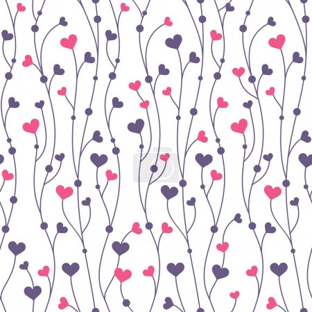 Illustration for Abstract geometric colorful seamless pattern background with hearts - Royalty Free Image