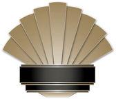 Art Deco Stye Badge isolated against a white background