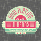 "Постер, картина, фотообои ""1950-х годов jukebox стиль дизайн логотипа"""