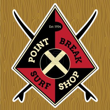 Классический СерфДизайн Логотипа