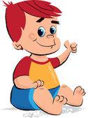 Baby boy dětské ilustrace