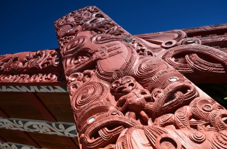Maori crafts people. New Zealand. Woodcarving.