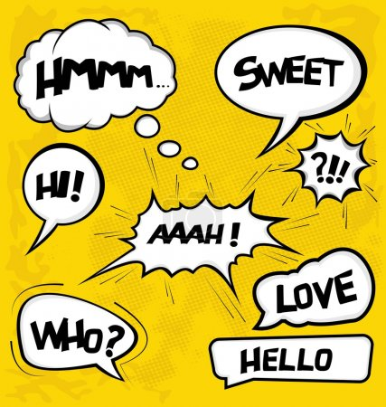 Illustration for A collection of comic style speech bubbles - Royalty Free Image