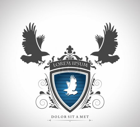 Vintage emblem with eagles with a place for Your text