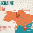 Ukraine political map - vector map...