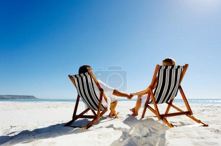 summer relaxing beach couple