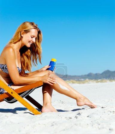 sunblock woman