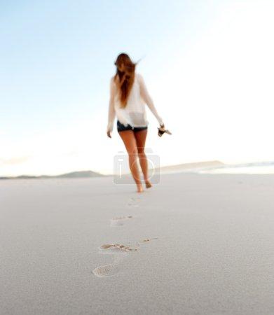 plage à pied