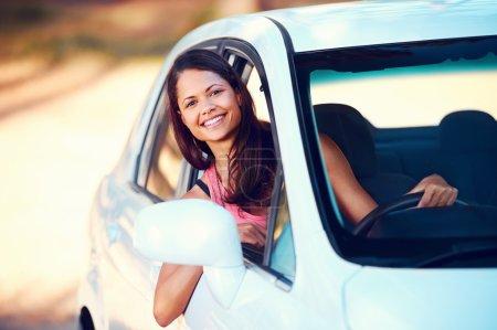 roadtrip woman happy