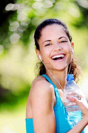 Healthy sporty woman