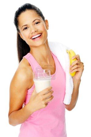 banana shake woman