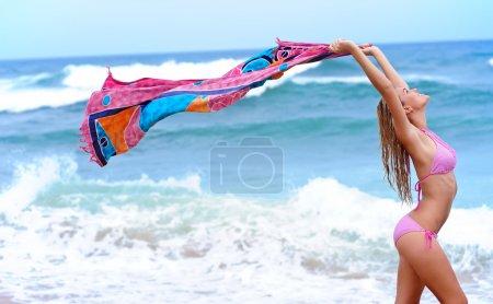 Sexy bikini holiday girl