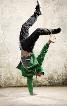 Photo for One hand handstand hip hop dancer - Royalty Free Image