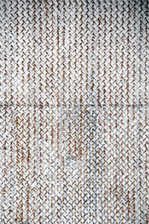 Rusted metal grid background