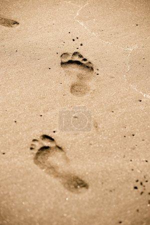 Footprints in sand...