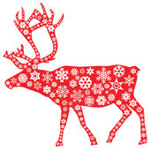 Christmas moose in red