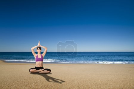 Yoga in the beach