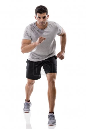 Athletic man running