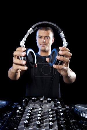 DJ playing disco