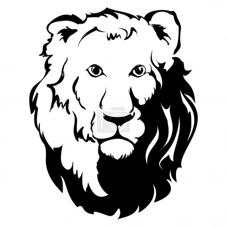 Lion Head Icon, tattoo , vector llustration