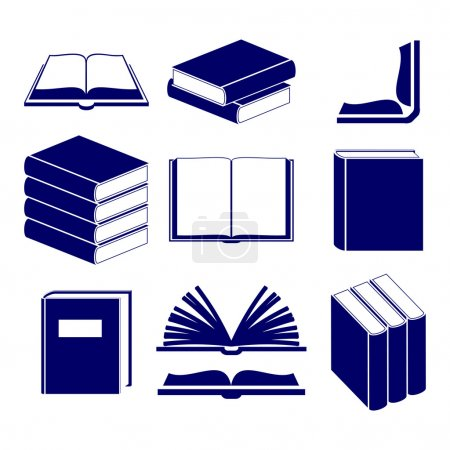 Illustration for Book icons set  vector  illustration - Royalty Free Image