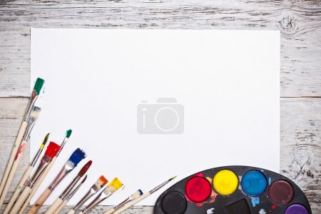 Used watercolor paints set