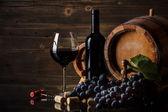 Csendélet vörös bor