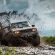 Jeep off road in muddy conditions...