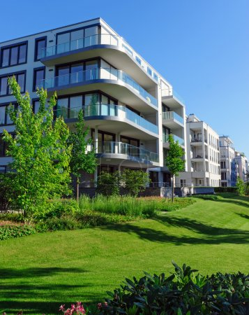 Photo for Luxury apartment houses with a green garden - Royalty Free Image