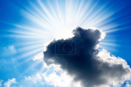 Photo for Sun closed by rain cloud - Royalty Free Image