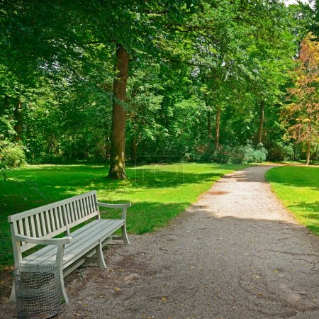 Foto de Banco en un hermoso parque. - Imagen libre de derechos