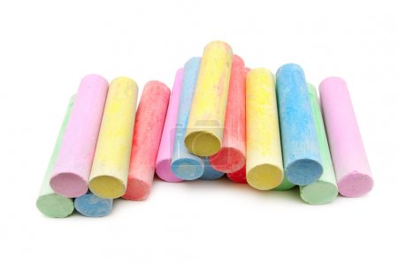 multicolored chalk