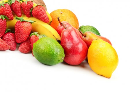 Photo for Fresh fruits isolated on a white - Royalty Free Image