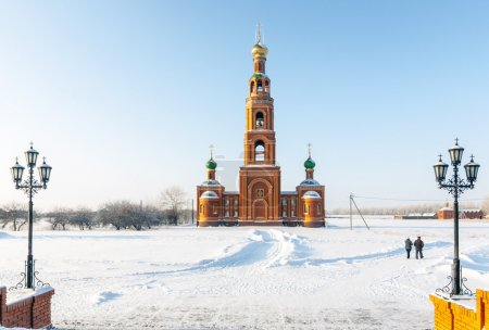 Monastery in Siberian Achaire. bell tower