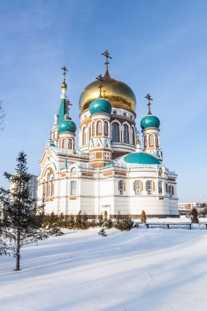 Main Cathedral in Omsk winter