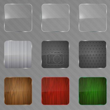 Illustration pour Cadre en métal, bois et verre. Illustration vectorielle . - image libre de droit