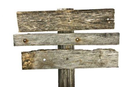 Photo pour Panneau en bois isolé sur blanc. - image libre de droit