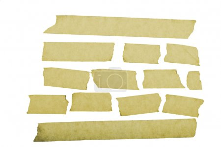 Strips of masking tape. Isolated on white