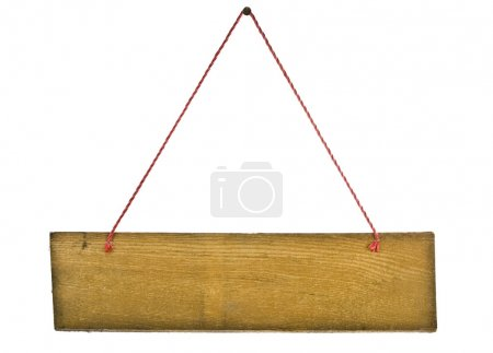 Photo pour Panneau vintage suspendu avec cordon - image libre de droit