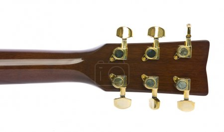 Photo for Closeup image of classical guitar tuners - Royalty Free Image