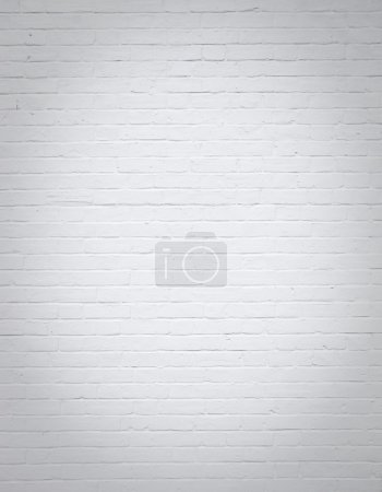 Side of house white brick wall background