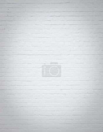 Photo pour Côté de la maison fond de mur de brique blanche - image libre de droit