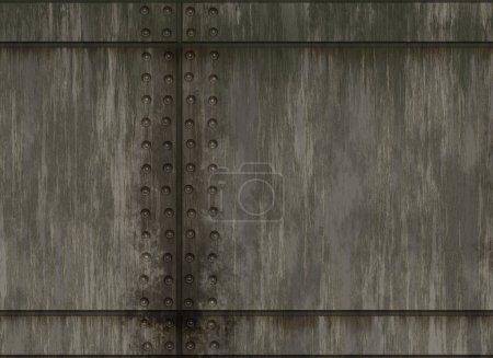 Photo pour Texture de plaque métallique naturel rivet - image libre de droit