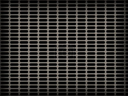 metal grid backgrounds with many holed