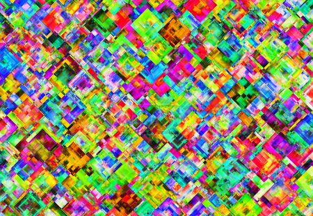 Abstract Pattern from Multicolored Square Backgrounds