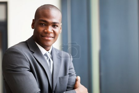 Photo for Peaceful african american businessman in office - Royalty Free Image
