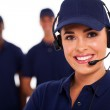 Technical support call center operator and team...